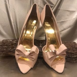 Cape Robbin Open Toe dOrsay Pink Bow Patent SZ 10